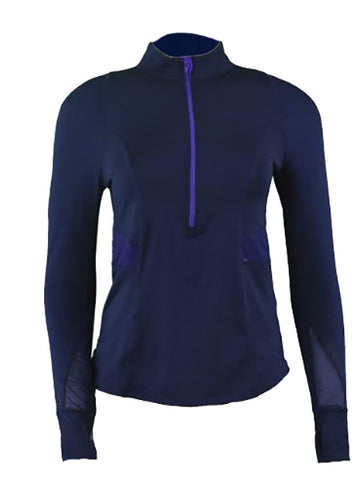 Lucky In Love Ultraviolet L/S Mock Quarter Zip CT311-401