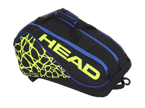 Head Tour Team Supercombi Pickleball Bag Black/Navy/Yellow