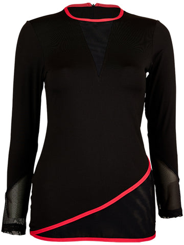 Sofibella Match Point Long Sleeve Top 1964-BLK