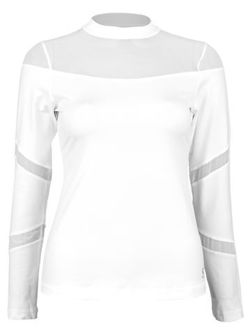 Sofibella Club Lux Dual Long Sleeve Top 1856-WHT