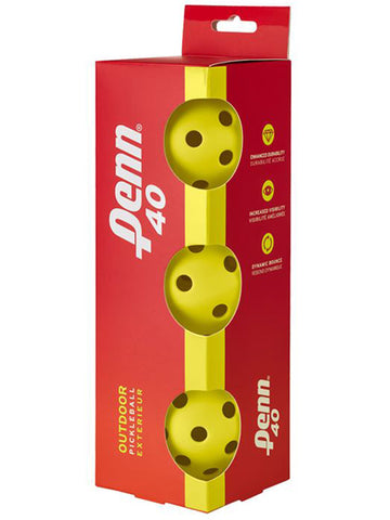 Head Penn 40 Outdoor Pickleball 3pk