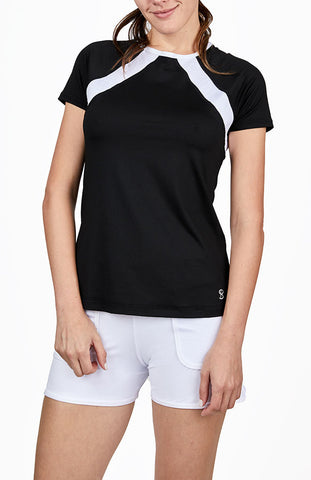 Sofibella Dresscode Short Sleeve Top 2046-BLK