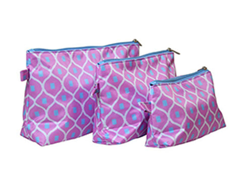 All For Color Good Catch 3 Piece Cosmetic Bag Set TCTP7213