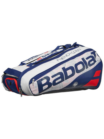 Babolat Pure French Open Bag 6 Pack White/Blue Bag