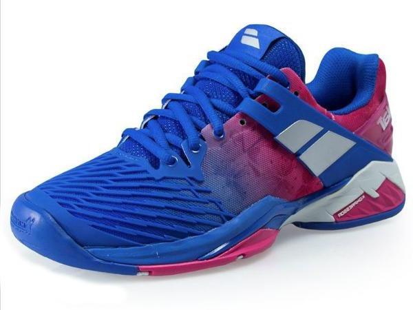 Babolat Propulse Fury All Court Womens Tennis Shoe Princess Blue/Fandango Pink