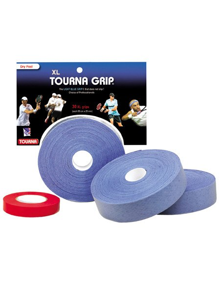 Grips - Tourna Grip XL Blue Overgrip 30 Pack