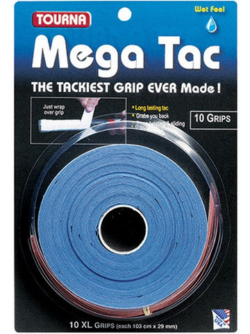 Grips - Tourna Mega Tac Blue Overgrip 10 Pack