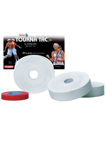 Grips - Tourna Tac XL White Overgrip 30 Pack