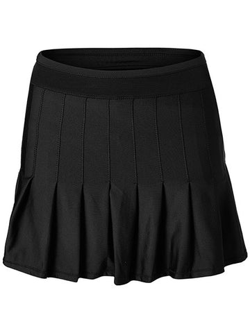 Lucky In Love Long Retro Pleat Skirt Black CB287-001