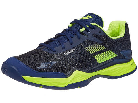 Babolat Jet Mach II AC Men's Shoes Estate Blue/Fluo Yellow