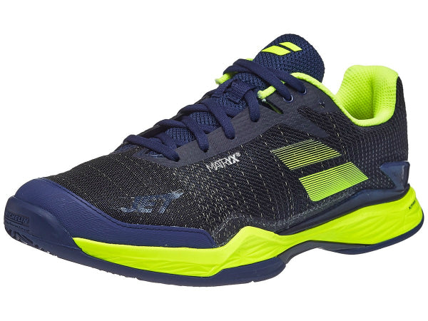 Babolat Jet Mach II Clay Men's Shoes Estate Blue/Fluo Yellow