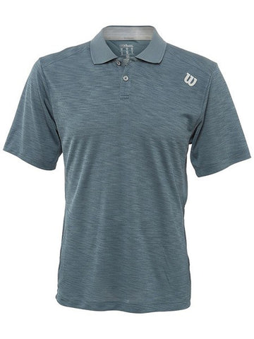 Men's Apparel - Wilson Men's Textured Polo Blue