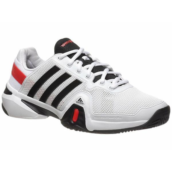 698bd55393d Adidas Barricade 8 White Black Men s Shoes