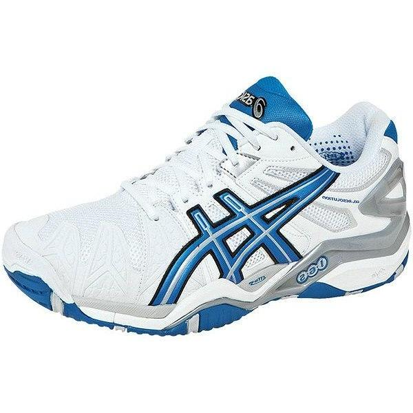 Men's Shoes - Asics Gel Resolution 5 White/Royal Blue/Lightning Men's Shoes