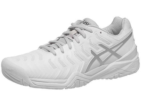Men's Shoes - Asics Gel Resolution 7 White/Silver Men's Shoes E701Y-0193