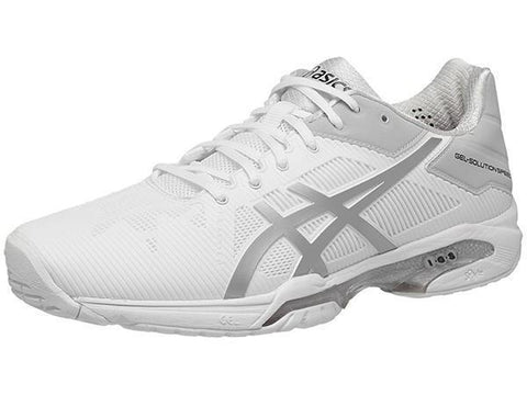 Men's Shoes - Asics Gel Solution Speed 3 White/Silver Men's Shoes E600N-0193