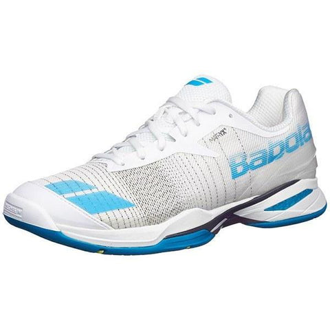 Men's Shoes - Babolat Jet AC White/Blue Men's Shoes