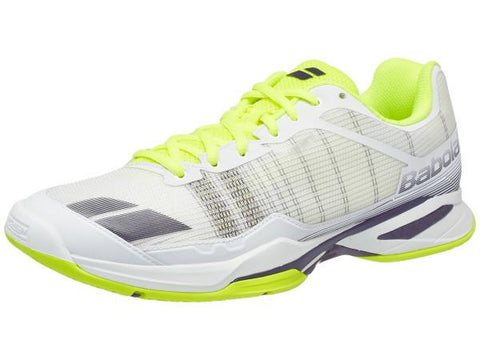 Men's Shoes - Babolat Jet Team White/Yellow Men's Shoes
