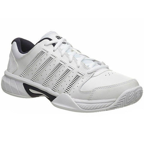 Men's Shoes - K-Swiss Express Leather Tennis Shoes White/Navy Men's Shoes