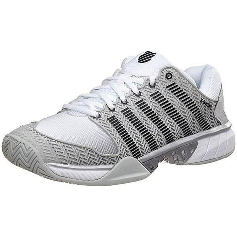Men's Shoes - K-Swiss Hypercourt Express Grey/White/Silver Men's Shoes 03377-080