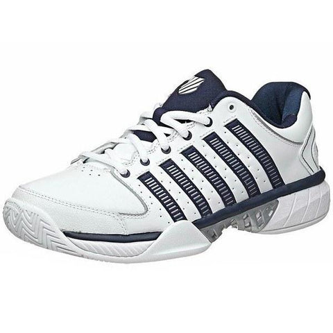 Men's Shoes - K-Swiss Hypercourt Express Leather White/Navy/Silver Men's Shoes