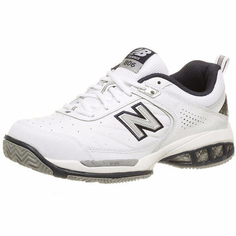 Men's Shoes - New Balance MC 806 White Men's Shoes