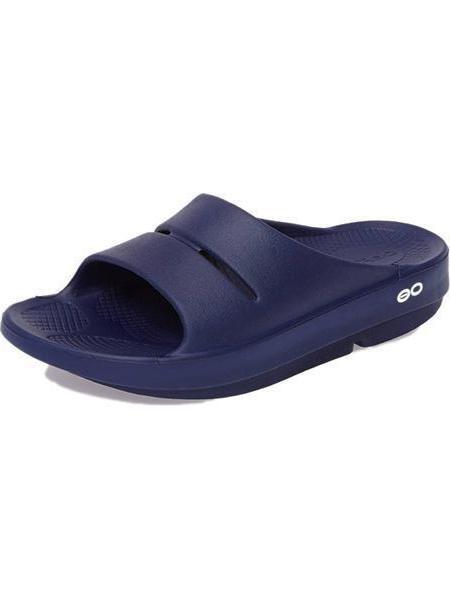 abcbfb86176f Oofos OOahh Men s Slide Sandle Navy 1100navy oofos navy slides