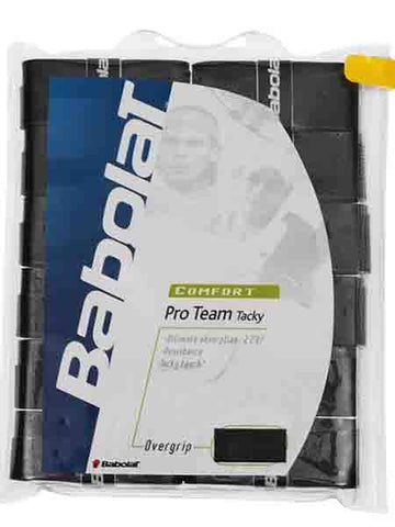 Overgrip - Babolat Pro Team Tacky Overgrip Black 12 Pack