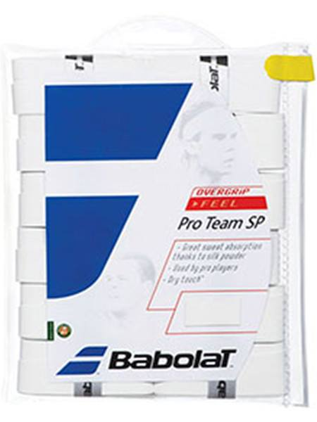Overgrip - Babolat Pro Team Tacky Thin Overgrip White 12 Pack