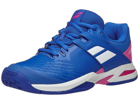 Babolat Junior Propulse Fury All Court Tennis Shoe Princess Blue/Fandango Pink