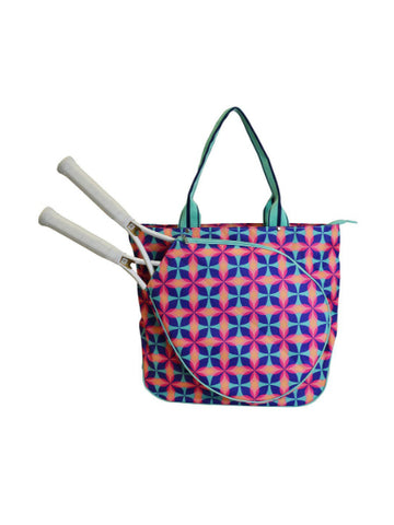 All For Color Bali Blooms Tennis Tote TCDL7295