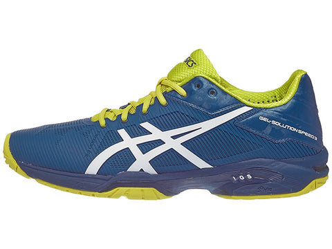 Asics Gel Solution Speed 3 Blue/Wh/Sulphur Men's Shoes E600N-4501
