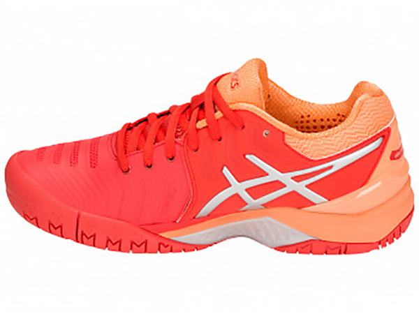 Asics Gel Resolution 7 Red Alert/Peach Women's Shoes E751Y-600