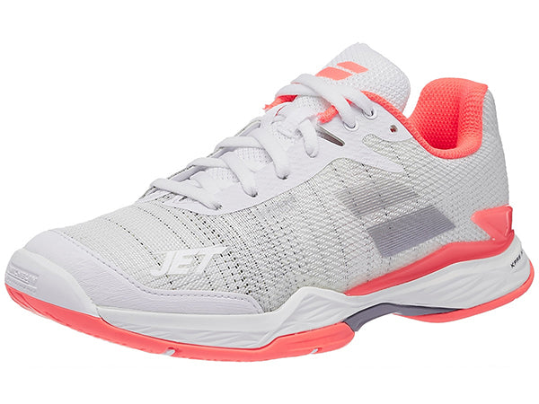 Babolat Jet Mach II All Court White/Fluo Pink Womens Tennis Shoe