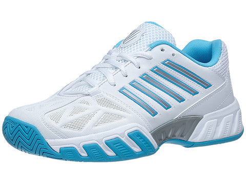 K-Swiss Bigshot Light 3 White/Aquarius/Silver Women's Shoe 95366-145