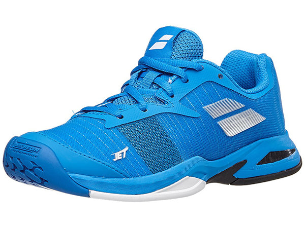 38eb49c5a9a1bf Babolat Jet All Court Junior Shoes Diva Blue/White