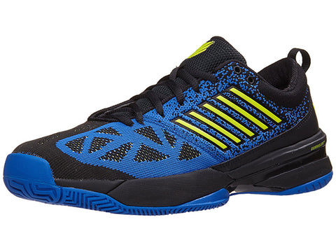K-Swiss Knitshot Mens Tennis Shoe Black/Strong Blue/Neon Citron 05397-083