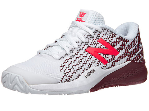 New Balance WCH996C3 (B) White/Oxblood Womens Tennis Shoe