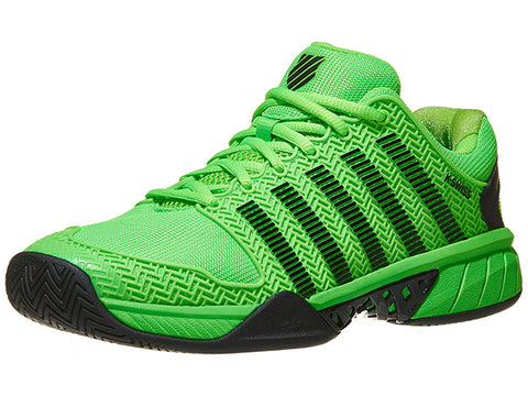 K-Swiss Men's Hypercourt Express Tennis Shoes Neon Lime/Black  03377-398
