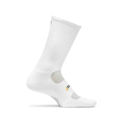 Socks - Feetures! High Performance Light Cushion Crew /White