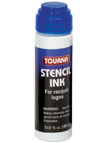 Stencil And Ink - Tourna Racquet Stencil Ink- Blue Ink