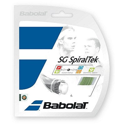 Strings - Babolat SG SpiralTek 17 String Yellow