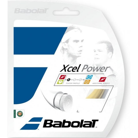 Strings - Babolat Xcel Power 16 String Natural