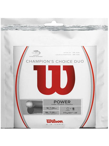 Strings - Wilson Champion's Choice Duo (ALU Rough 16L + Gut 16) String