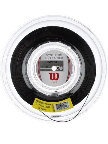 Strings - Wilson Synthetic Gut Power 16 Reel String Black