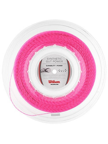 Strings - Wilson Synthetic Gut Power 16 Reel String Pink