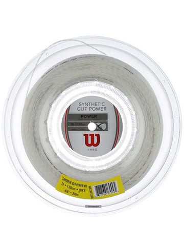 Strings - Wilson Synthetic Gut Power 16 Reel String White