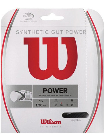 Strings - Wilson Synthetic Gut Power 16 String Black