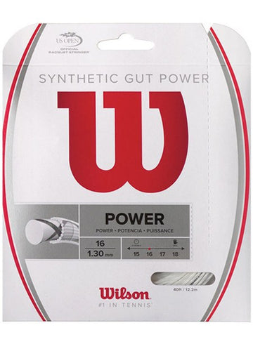 Strings - Wilson Synthetic Gut Power 16 String White