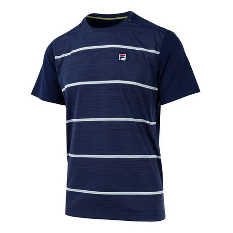 Fila Legend Space Dye Stripe Tennis Crew Navy/White TM181B89-412